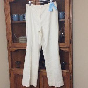 Antonio Melani Linen Size 12 Flair Slacks NWT